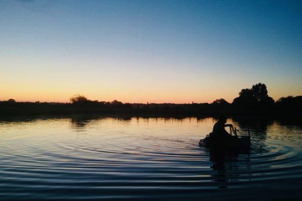 Bassins de Claire soleil couchant